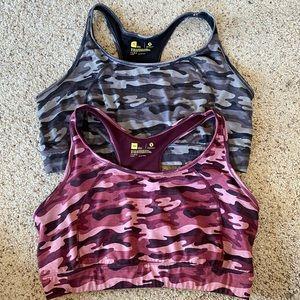 Xersion camo sports bra bundle of two 3X bras